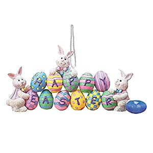 🐰🐰Spring Bunny Figurine Decorations -【Perfect Easter Gifts】: The rabbit is one of the symbols of Easter, give it to family and friends as a gift and bring them good luck. The adorable spring Bunny Figurine is a good home decoration in Easter Day, And...