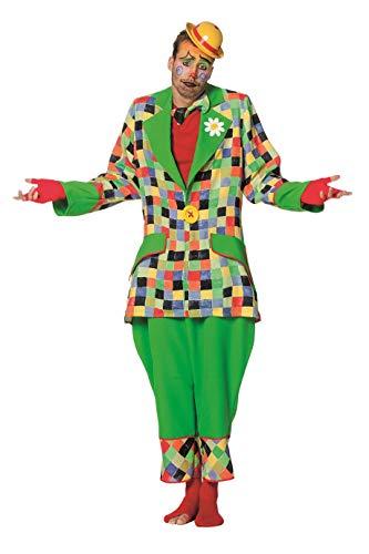 W5320-50 - Disfraz de payaso para hombre, talla 50, multicolor y verde