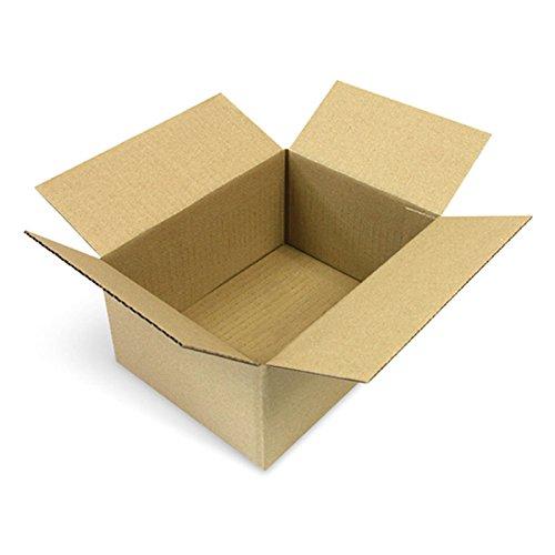 50 Faltkartons 200 x 150 x 90 mm Versandkartons aus Wellpappe 1 wellige Kartonverpackungen KK 10