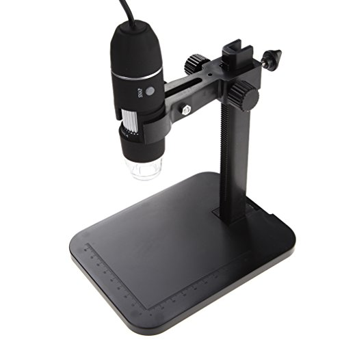 ttnight 1000X 8 LED 2MP Mini Portable USB Digital Microscope Endoscope Magnifier Camera with Stand for Education Biological Inspection