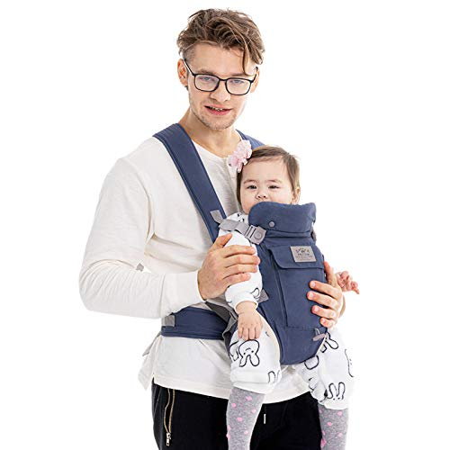 """""""X""""CrossStrapBabyCarrier FRUITEAM Baby Carrier Easy to Put on Comfortable and Safe Eveningmist Blue"""
