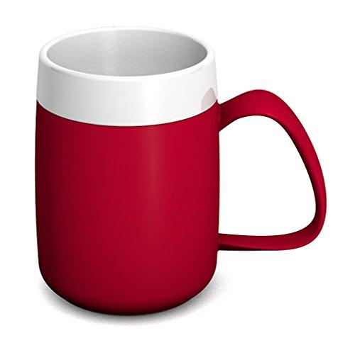 Ornamin Thermobecher 260 ml rot (Modell 206) / Isolierbecher, doppelwandiger Kaffeebecher Kunststoff