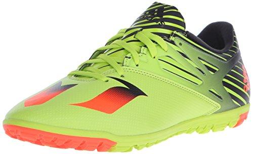 Adidas Performance Messi 15,3 fútbol zapatos, negro / shock verde / rojo solar, 6,5 M con nosotros