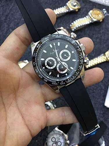 PLKNVT Luxusmarke New Black Rubber Herrenuhr Saphirglas Automatische Mechanische Rose Gold Daytona Style Uhren Limited Edition2