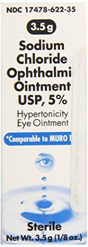 powerful Akorn 5% Sodium Chloride Eye Ointment 3.5 g 0.12 oz for Muro 128