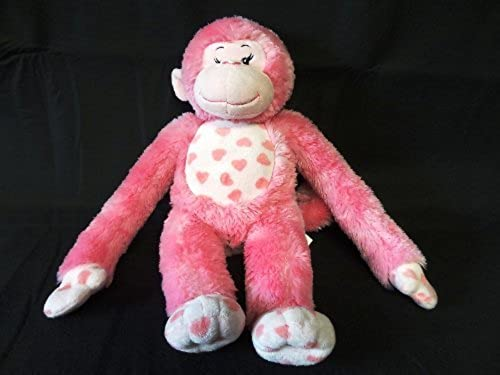 Build a Bear Workshop Rosa Hearts Stuffed Monkey Plush - Hugs for You - 18 Tall by Build A Bear