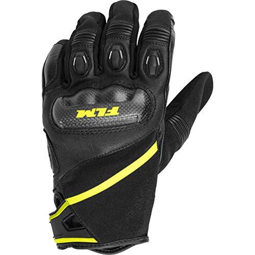 FLM Motorradhandschuhe kurz Motorrad Handschuh Sports Lederhandschuh 1.0 schwarz 10, Herren, Sportler, Ganzjährig