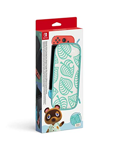 Pochette de Transport - Edition Animal Crossing New Horizons/Protection d'Ecran pour Nintendo Switch