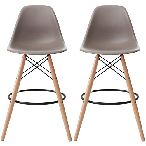 2xhome Set of 2 Taupe Gray 28