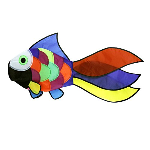 Homyl Regenbogen Fisch Drachen Windsack Drachen, Outdoor Garten Deko, Kinder Spielzeug