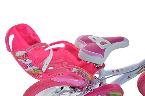 Einhorn Kinderfahrrad Unicorn Mädchenfahrrad – 16 Zoll| Original | Kinderrad Mit Stützrädern, Puppensitz Und Fahrradkorb – Das Einhorn Fahrrad Als Geschenk Für Mädchen - 4