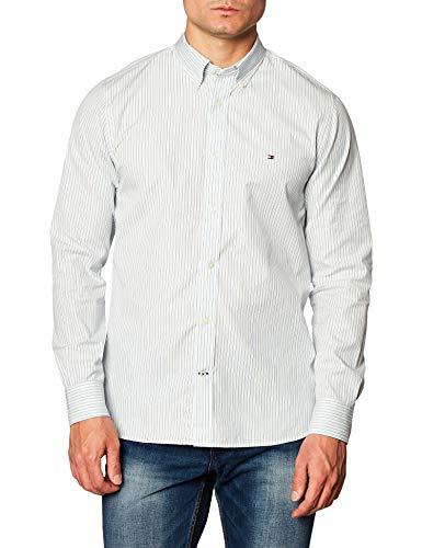 Tommy Hilfiger Herren Bold Stripe Shirt Hemd, Blau, XL