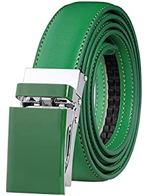 Falari Automatic Ratchet Belt for Women Kids Boys and Girls Multicolor Genuine Leather Belt - Trim to Fit
