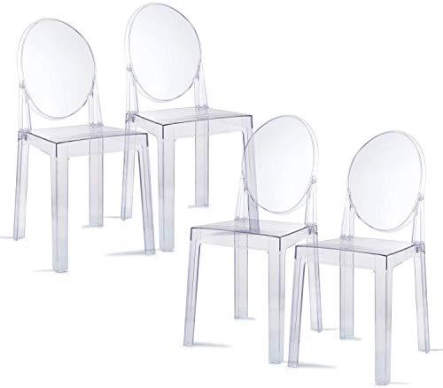 Chairs4you Set mit 4 Stühlen Milan – Plexiglas – Transparent – inspiriert von Starck Ghost Victoria (transparent)