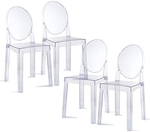 Lot de 4 Chaises Milan Starck Ghost Victoria