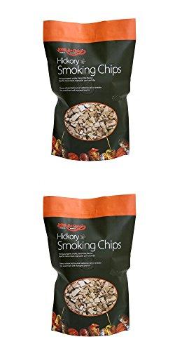 2 X 400 g Paquet de Hickory puces fumeurs - Convient pour le gaz ou le charbon barbecues