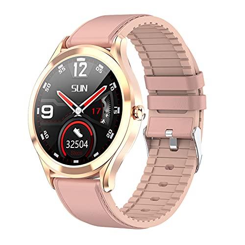 BNMY Smartwatch Pantalla De 1,3 Pulgadas Reloj Inteligente Impermeable IP67 con Pulsómetros para Mujer Hombre, Pulsera De Actividad Inteligente con Monitor De Sueño Contador De Caloría Cronógrafo,F