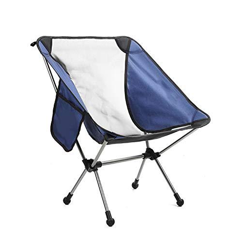 YANJ Sillas Camping Plegables Ligeras,sillas ultraligeras con Mochilas y Bolsillos de Almacenamiento,Capacidad máxima de 200 kg (Azul)
