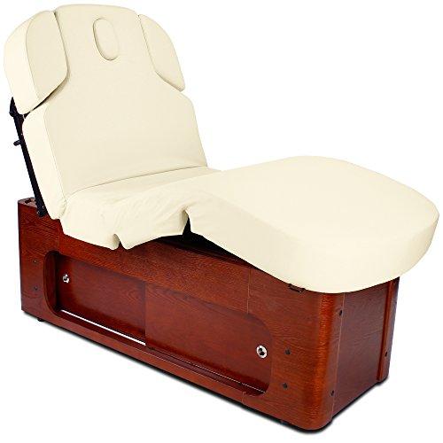 Elektrische Behandlungsliege Therapieliege Massageliege Wellnessliege 033361H creme mit Heizung