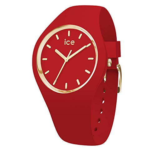 Ice-Watch - Ice Glam Colour Red - Orologio da Donna con Cinturino in Silicone - 016264, Medium, Rosso