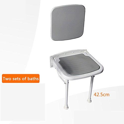WEBO HOME- Baignoire avec une variété de combinaisons de paquets Accoudoir de salle de bain dossier de tabouret pliant Appuie-bras de douche Espace de pliage auxiliaire -Main courante de salle de bain ( style : C )