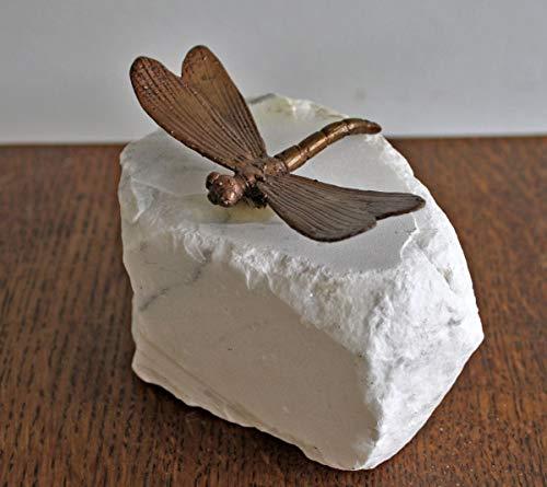 H. Packmor GmbH Bronzeskulptur kleine Libelle Käfer - Dekoration für den Garten - 9,5x3x6 cm