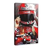 Póster de 3 veces de fórmula uno de Austria, campeón del conductor, Niki Lauda, para decoración de pared, para sala de estar, dormitorio, 60 x 90 cm. Marco: