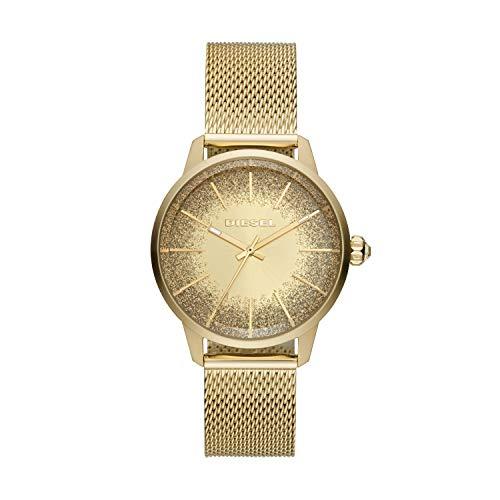 Diesel Damen Analog Quarz Uhr mit Edelstahl Armband DZ5591
