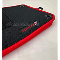 Accesorionline Alfombrillas Seat Leon I 1999-2005 MK1 Bordes Rojos alfombras 1M Sport
