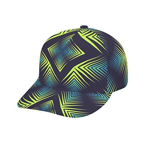 Lind88 Mädchen Baseballkappe Psychedelic Mandala stilvoll – Low Profile Soft Golf Cap, Unisex, weiß, Adult Printing bended Rubber