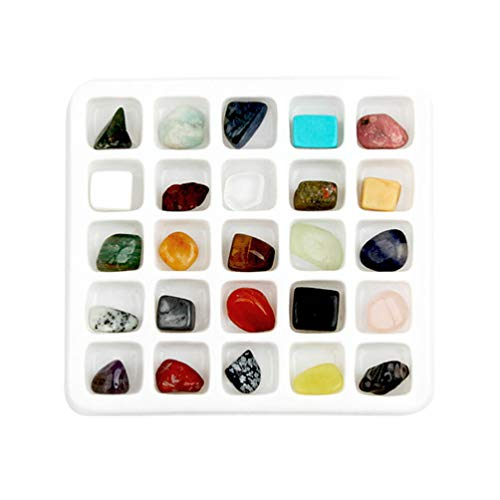 TOYANDONA - Caja de colección educativa de roca y minerales y caja de colección para profesores de muestras para la escuela en casa (20 piezas)