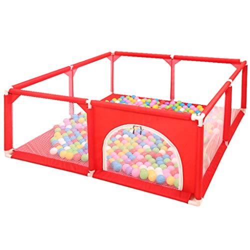 Parcs bébé et Jeu de Balle Tentes Enfant Porte d'aire de Jeu de sécurité avec 100 balles incluses (Rouge)
