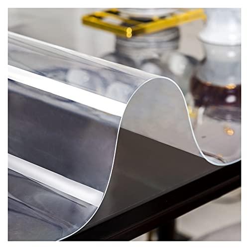 AYLYHD Transparente Mantel 1.5mm de Espesor - Antimanchas Rectangular Manteles Impermeable Mantel Sin Olor PVC Protector de Mesa para Cocina/Sala de Estar/Jardin (Color : 1.5mm, Size : 140x140cm)