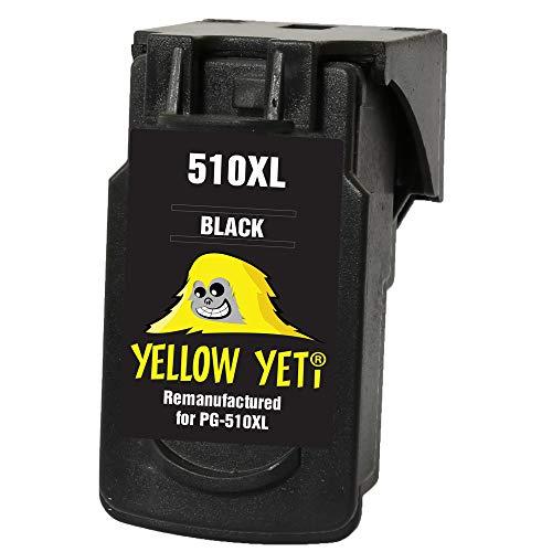 Yellow Yeti PG-510XL PG-510 XL Cartucho de Tinta remanufacturado Negro para Canon Pixma iP2700 iP2702 MP230 MP240 MP250 MP260 MP270 MP280 MP480 MP490 MP495 MP499 MX320 MX330 MX350 MX360 MP252 MP282