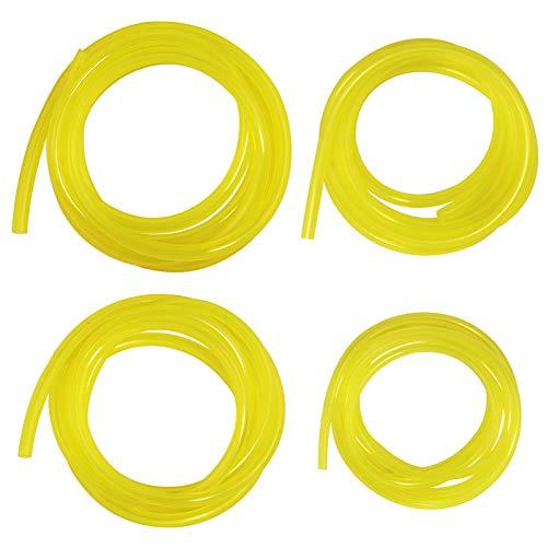 Laixin 4 tamaños Manguera de Combustible Premium Manguera de Combustible [Cada 150cm] Manguera de PVC para Motosierra Desbrozadora Motor Pequeño de 2 Tiempos