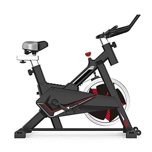 WGFGXQ Bicicleta estática, Bicicleta giratoria estacionaria Suave y silenciosa Totalmente Ajustable con Sensor de frecuencia cardíaca y computadora de a Bordo Multifuncional para Ejercicios en casa