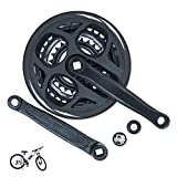 ColouredPeas Square Cone Mountain Bike Cranksets 6/7/8 Speed 42T 34T 24T Universal Crank Set for Mountain Bicycle, 170mm Crank Arm
