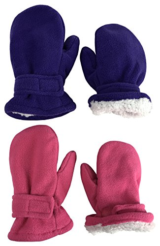 N'Ice Caps Little Kids and Baby Easy-On Sherpa Lined Fleece...