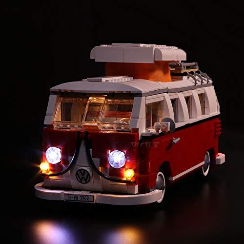 Nlne Kit De Iluminación Led para Furgoneta Volkswagen T1-Compatible con Ladrillos De Construcción para Lego Modelo 10220, NO Incluido En El Modelo,Basis Version