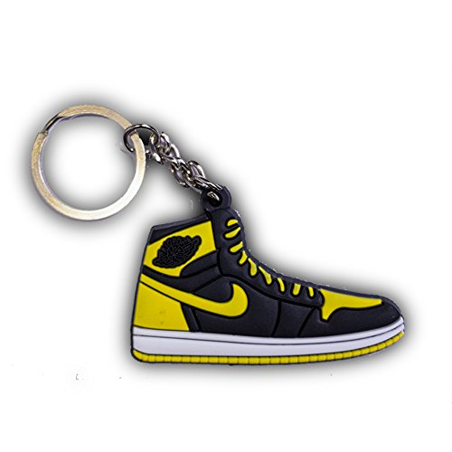 ProProCo Sneaker Schlüsselanhänger Jordn Air Nik Schlüsselanhänger Jordn 1 Schuh anhänger Fashion für Sneakerheads,Hype-Beasts Nik-e Supreme Palace (New Luv)