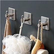 Shoplifemore Roestvrije roestvrij stalen stok op haken Heavy Duty hangende houder zonder boren, ideaal voor deurmuur badka...