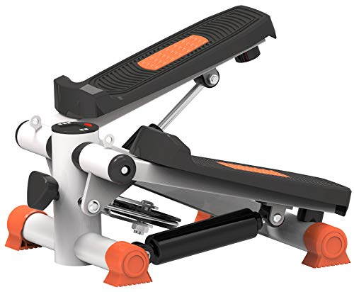 TKLLOVE Stepper,Fitness Interior Unisex's Deluxe Stepper Gym Gimnasio Fitness Máquina Ejercicios Magnético Bidireccional Silencioso Potente Cilindro Hidráulico(Naranja)
