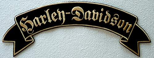 Generico Grande Toppa Patch Pergamena Harley Davidson Lettere Gotiche Colore Oro