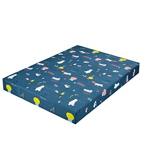 XGguo Protector de colchón de bambú Funda de colchón y Ajustable Sábana de Cama Impresa Funda Protectora cepillada-8_200X200 + 25cm