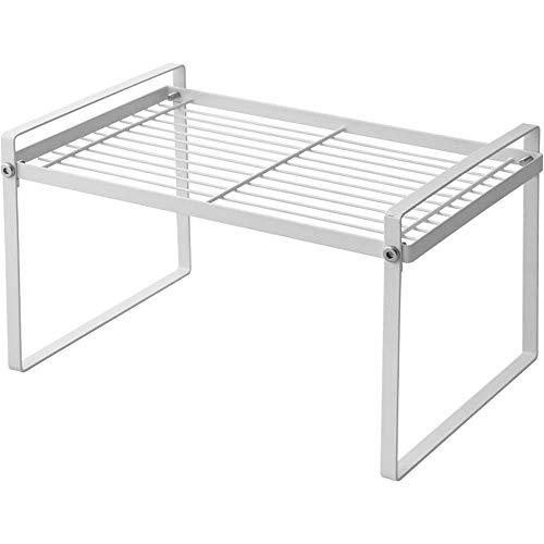 ZGQA-GQA Soporte de metal para horno de microondas, estante de almacenamiento multifunción, organizador de cocina, estante de cocina (color: blanco, tamaño: 50 x 18 x 21,5 cm)