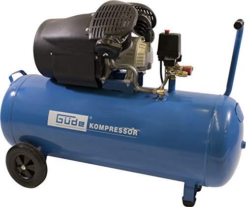 Güde 50123 Kompressor 412/8/100 (100 l Kessel, Direktantrieb, 2 Manometer, 2 Druckluftkupplungen, Sicherheitsventil)