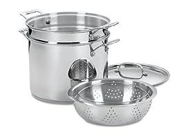 Stainless 12-Quart Pasta/Steamer Set