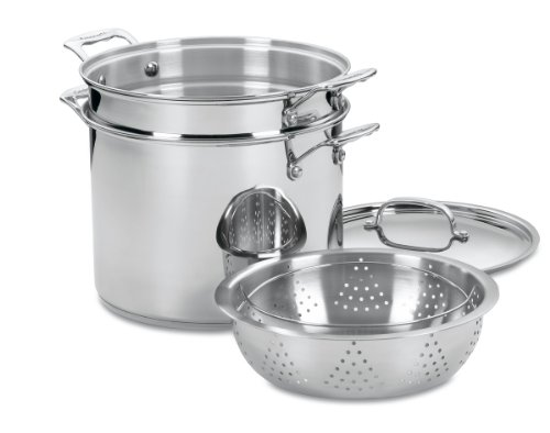Cuisinart 77-412 Chef's Classic Stainless 4-Piece 12-Quart Pasta/Steamer Set