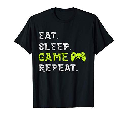Eat Sleep Game Repeat Video Spiele Gamer Geschenk T-Shirt