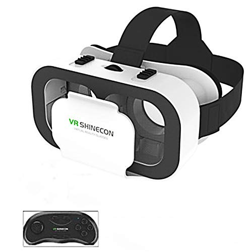 Review LHTE Big Screen VR Mobile Phone Headsets, 3D VR Glasses Headset for 4.7-6.5 Inches Android iO...